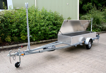 Sailboat Storage Box, fabricated in Aluminium