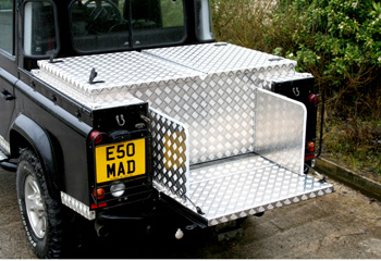 Aluminium Box with gull wing lid