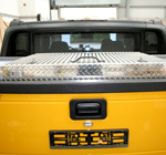 Aluminium Boxes fitted to a Hummer Pickup