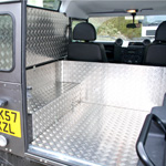 Land Rover 90 Hardtop Aluminium Rear Panels