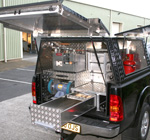 Farriers Mobile Workshop fitted to a Toyota Hilux