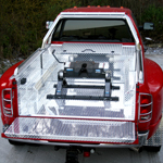 Dodge Ram Twin Wheeler complete with Samson Aluminium Lining, Box and Sports Bar.